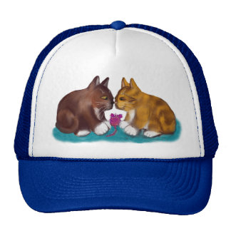 Nose to Nose over the Mouse Toy Trucker Hat
