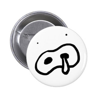 Nose water cover 6 cm round badge