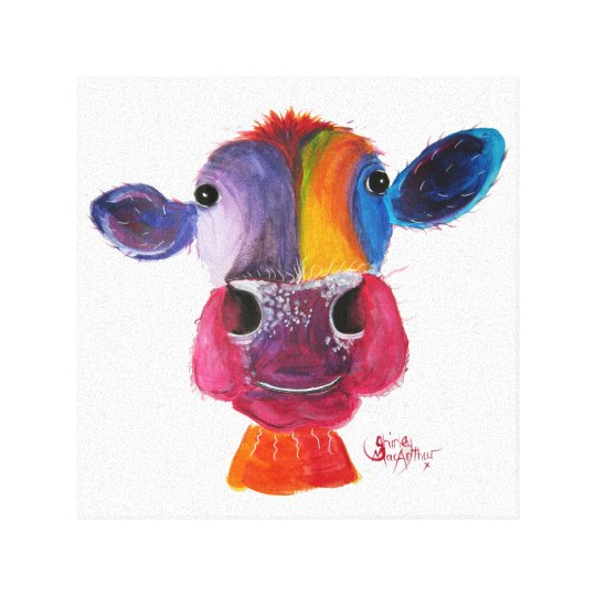 Nosey Cow 'LouLou' by Shirley MacArthur Canvas Print