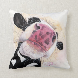 Nosey Cow ' Nosey Nellie ' Throw Pillow Cushion