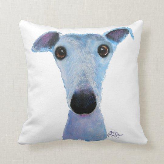 Nosey Dog ' Bluebell ' Soft Throw Pillow