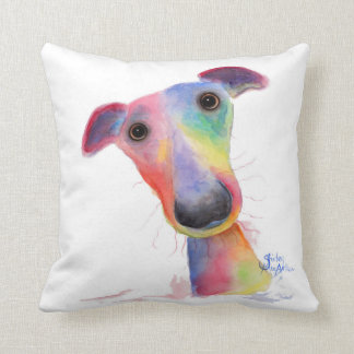 Nosey Dog 'Hank' Whippet / Greyhound Cushion