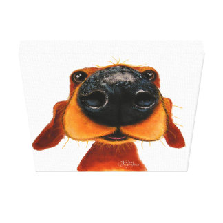 Nosey Dog 'Nosey Nando' Box Canvas Print