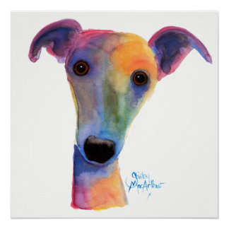 Nosey Dog ' Pansy ' by Shirley MacArthur