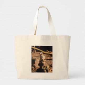 nosey meerkat large tote bag