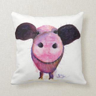 Nosey Pig ' Pigs CAN Fly! ' Throw Pillow Cushion