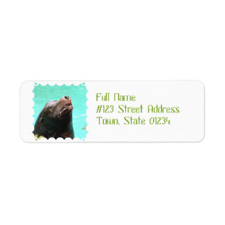 Nosey Sea Lion Return Address Label