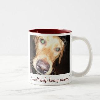 Nosey Two-Tone Coffee Mug
