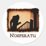 Nosferatu Scary Vampire Products Round Sticker
