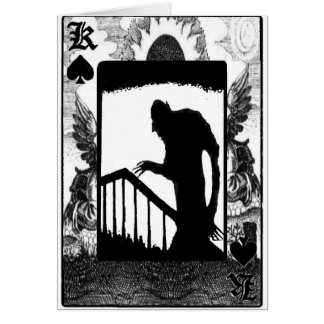Nosferatu-shadow on the stairs card