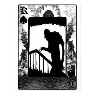 Nosferatu-shadow on the stairs postcard