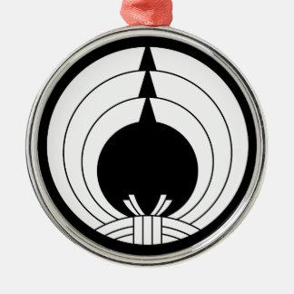 Noshi circle Silver-Colored round decoration