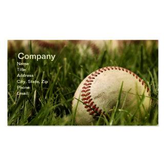 Nostalgic Baseballs Business Card Template