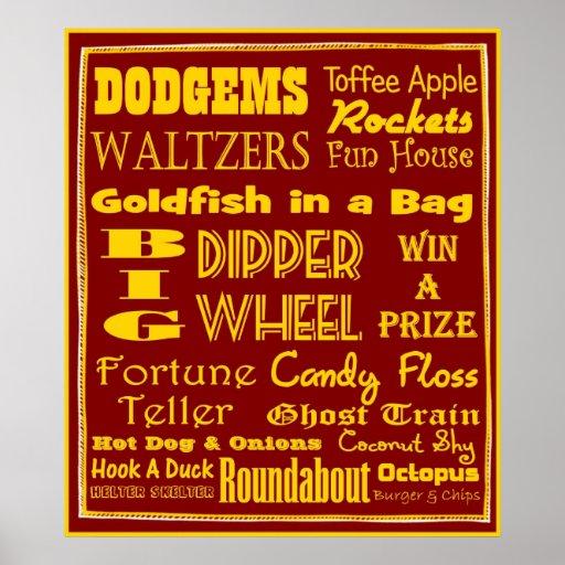Nostalgic British Fun Fair Poster