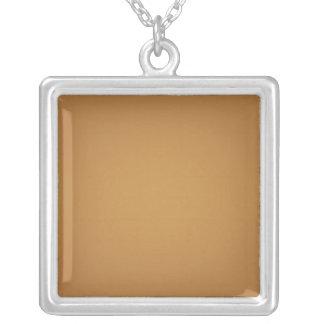 Nostalgic Burnt Orange Square Pendant Necklace