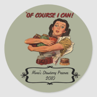 Nostalgic Canning Label Custom Name and Date Round Sticker