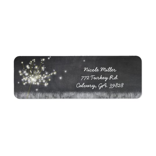 Nostalgic Chalkboard Dandelions Business Return Address Label