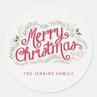 Nostalgic Christmas Sticker or Envelope Seal