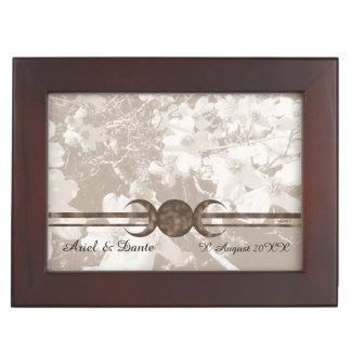 Nostalgic Dogwood Triple Moon Handfasting Cord Box