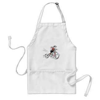 Nostalgic Girl on Tricycle Aprons