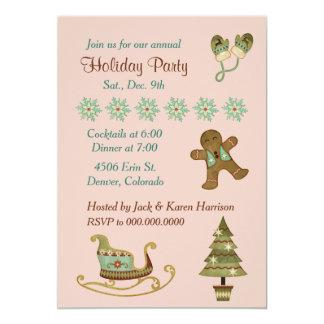 Nostalgic Holiday Images Christmas Party 13 Cm X 18 Cm Invitation Card