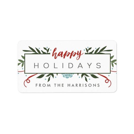 Nostalgic Holiday Personalised Gift Tags