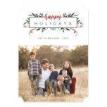 Nostalgic Holiday Photo Christmas Card 13 Cm X 18 Cm Invitation Card
