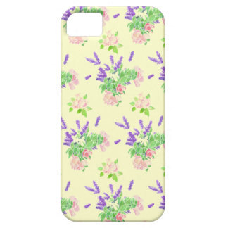 Nostalgic Lavender and Roses on Cream Case For The iPhone 5