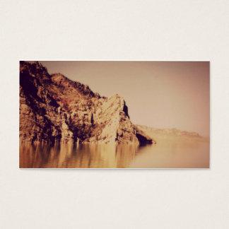 Nostalgic Mountains Water Funeral Memorial Card