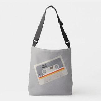 Nostalgic music lover bold cassette graphic crossbody bag