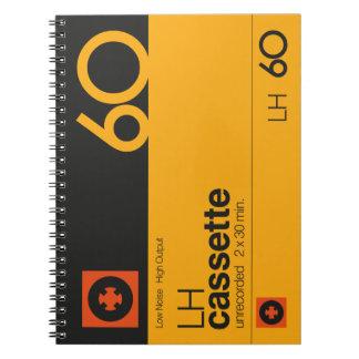 Nostalgic music lover bold cassette graphic notebook