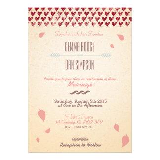 Nostalgic Romance- Custom Wedding Invitation Card