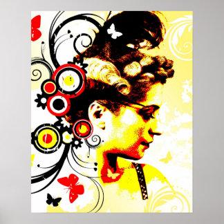 Nostalgic Seduction - Butterfly Enchantment Poster