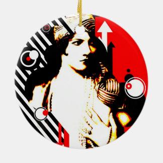 Nostalgic Seduction - Madam Stripe Christmas Ornament