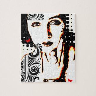 Nostalgic Seduction - Subjected to Ink Jigsaw Puzzle
