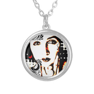 Nostalgic Seduction - Subjected to Ink Silver Plated Necklace