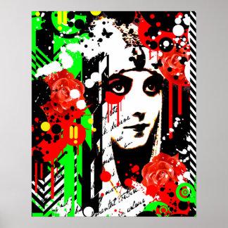 Nostalgic Seduction - Zombie Queen Roses Poster