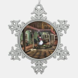 Nostalgic Snowman Snowflake Ornament