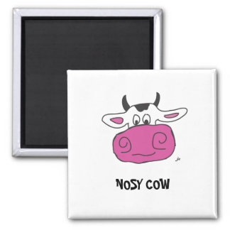 NOSY COW SQUARE MAGNET