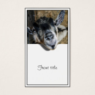 Nosy Goat Looking Out Business Card