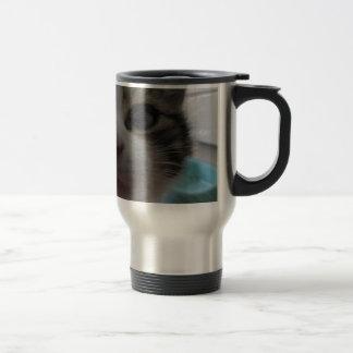 Nosy Kitten Stainless Steel Travel Mug