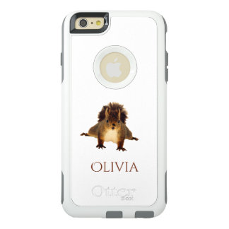 Nosy red squirrel in snow add name OtterBox iPhone 6/6s plus case