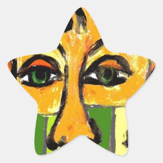 nosy star sticker