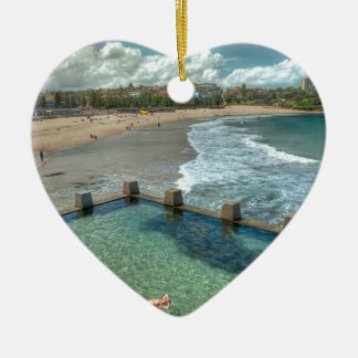 Not a care in the world- Coogee, Australia Ceramic Heart Decoration