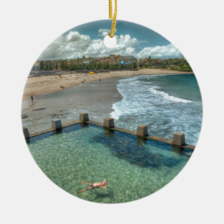 Not a care in the world- Coogee, Australia Round Ceramic Decoration