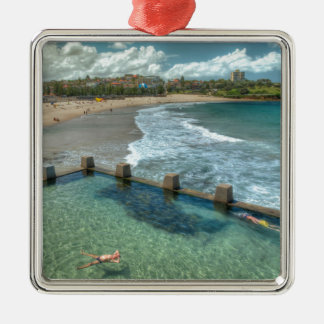 Not a care in the world- Coogee, Australia Silver-Colored Square Decoration