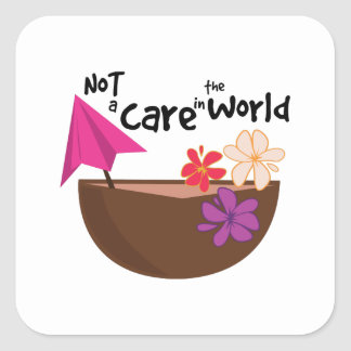 Not A Care Stickers