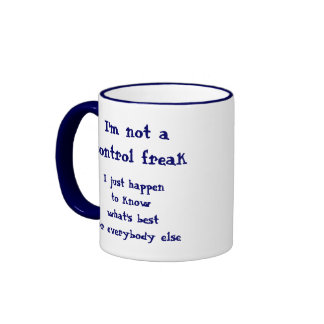 Not a control freak ringer mug