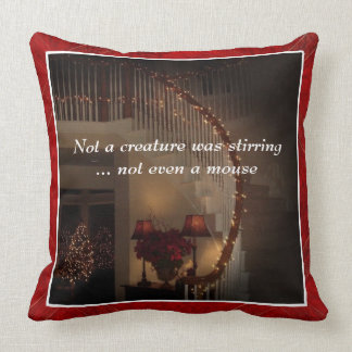 """Not a Creature Was Stirring"" 20x20 Throw Pillow"