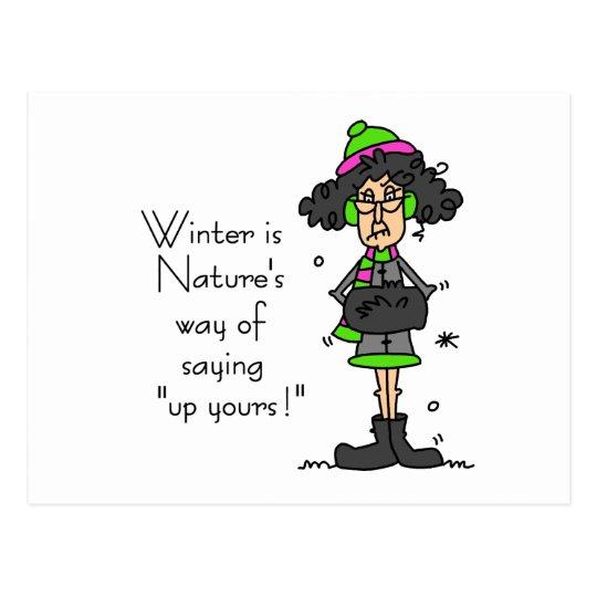 Not a Fan of Winter Postcard
